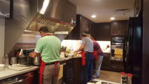 cooking at the Ronald McDonald House