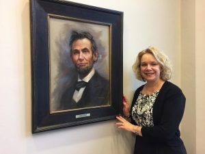 Lynne Wooden and Abraham Lincoln