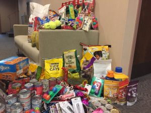 Items collected and donated to the Sangamon County Animal Control