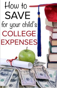 Save for your child's college expenses