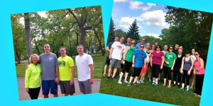running club collage
