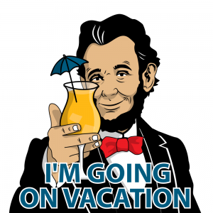 Abe, going on vacation