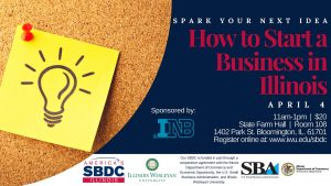 SBDC, How to start a business in Illinois, Facebook event