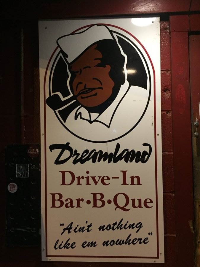 Sign for Dreamland BBQ